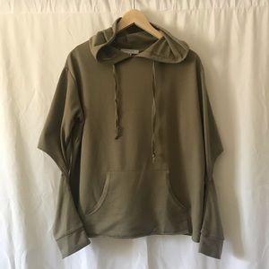 Tops - Open elbow hooded sweatshirt